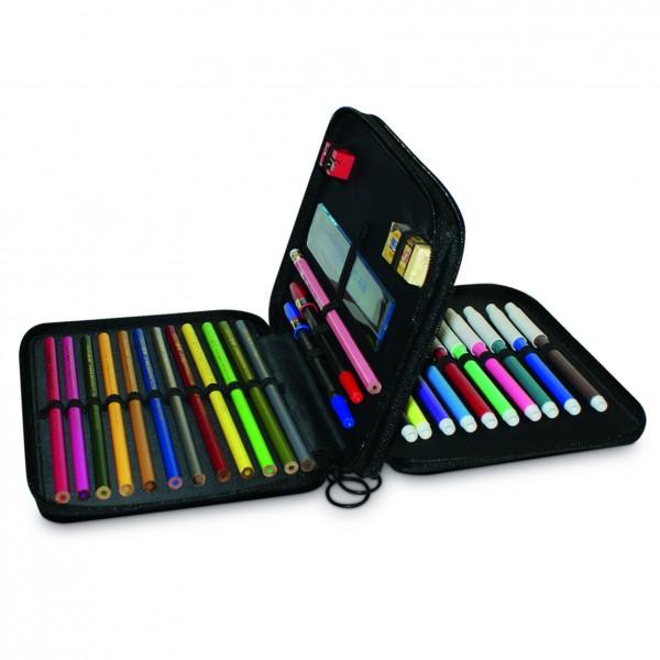 Trousse crayons grande 2a cr ation - Tuto trousse crayons de couleur ...